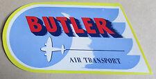 Vintage Original Aeroplane  Trunk / Luggage Label - Butler Air Transport