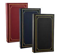 ARPAN Plain 6' X 4' Photo Album with 300 Pockets Black, Blue or Burgundy -