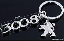 Porte clé Métal Chromé - neuf - Peugeot 3008
