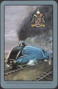 Playing Cards Single Card Old Vintage * LNER * Railway Train MALLARD Locomotive