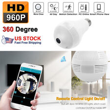 960P HD 1.3MP DVR 360° WiFi Camera Bulb Light Smart Security Wireless Fisheye
