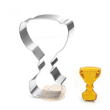 4 Pcs Packed Trophy Cup Stainless Steel Cookie Dessert Fruit Cutter DIY Mould