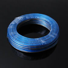100ft Feet 16 GA Gauge AWG Parallel Speaker Wire Cable Frost Blue Silver Copper