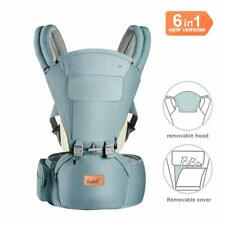Bable Baby Carrier with Hip Seat, 6-in-1 360 Ergonomic Baby Carrier GREEN