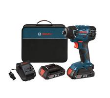 Bosch 25618-02 18-Volt Lithium-Ion 1/4-Hex Impact Driver Kit  2 Batteries, Case