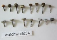 Lot of Vintage pocket watch Crown & Stem watchmaker parts repair (#15)