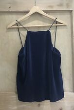ZARA Strappy top size S 8 10 NAVY Blue CROP BNWT