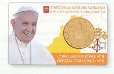 Vaticano 50 c.coincard 2017 n.8 Santo Padre Francesco busta posta prioritaria