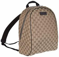 80d5c109bc6e New Gucci 449906 Beige Canvas GG Guccissima Backpack Rucksack Travel Bag