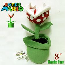 "Piranha Plant Super Mario Bros Flor De Peluche Suave Muñeca de Juguete de Peluche de 8"""