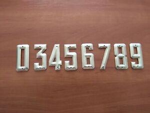 Vintage USSR 1970s metal numbers, apartment number, house