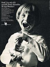 PUBLICITE ADVERTISING 124  1964  FRED LIP   montres  NAUTIC