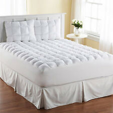 King Size Mattress Pad Cover Pillow Top Topper Thick Cotton Luxury Bed Bedding