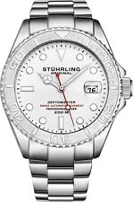 Stuhrling Depthmaster Men's 18 Jewel Swiss Automatic 200 Meter Dive Watch 893.01
