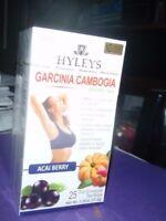 Hyleys Garcinia Cambogia Slim Green Tea, AcaiBerry Flavor (25 teabags) - Choose!