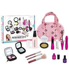 Girls Makeup Toy Set Pretend Play Princess Cosmetic Beauty Dressing w/carry Bag