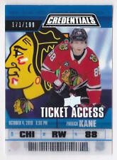19-20 Upper Deck Credentials Patrick Kane /199 Ticket Access Blackhawks 2019