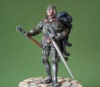 RARE CHEVALIER allemand Moyen-Age ALMONDS 90 mm Figurine peinte huile