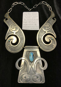 """MUSEUM QUALITY! """"Ben Silverhand Thompson"""" Sterling Silver & Turquoise Necklace"""