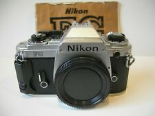 EXCELLENT ! NIKON FG 35mm SLR Film Camera with Body cap Instructions F mount FG