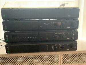 Braun Atelier Komplettanlage P1,T1,A1,C1 m. 2 Boxen L8070 HE schwarz gut erhalt