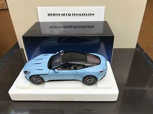 AUTOART 70268 2016 ASTON MARTIN DB11  Q FROSTED GLASS BLUE 1:18 SCALE