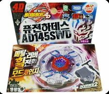 TAKARA TOMY Beyblade Fusion Hades AD145SWD 4D System BB123 + Light Launcher 2