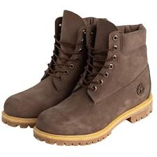 "Timberland Icon 6"" Premium Waterproof Dark Brown Leather Boots Mens Size 8 - NEW"