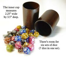 DND Leather Dice Cup for Dungeons and Dragons, Yahtzee, Dice Bag Pathfinder d20