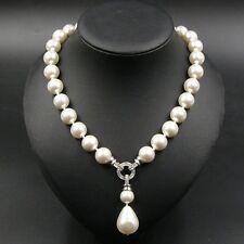 JEWELHAUS edle Tahiti MK Perlen Kette Halskette Muschelkernperlen mit Anhänger