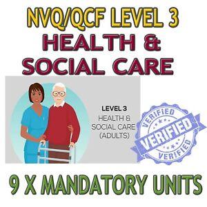 NVQ / QCF DIPLOMA LEVEL 3 HEALTH AND SOCIAL CARE ANSWERS HELP 9 MANDATORY UNITS