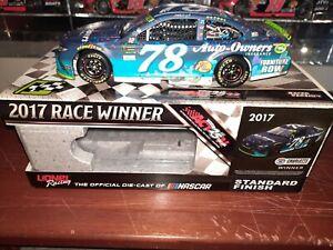 MARTIN TRUEX JR 2017 AUTO OWNERS CHARLOTTE WIN RACED 1:24 ACTION ARC DIECAST CAR