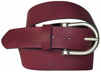 """FRONHOFER Women's leather belt, antique silver rounded pin buckle, 1.4""""/3.5cm"""