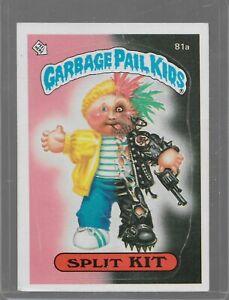 81a Rare Old Vintage Retro 1985 Garbage Pail Kids GPK Topps Collection Card U37