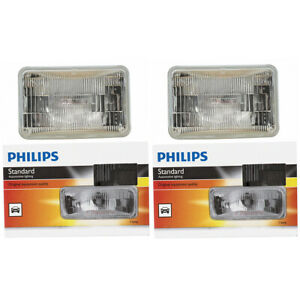 2 pc Philips High Low Beam Headlight Bulbs for Ford Probe 1993-1997 xf