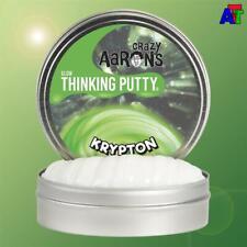 """Crazy Aaron's Thinking Putty KRYPTON - Mini Tin 2"""" GLOW UV Charge Glows Green"""