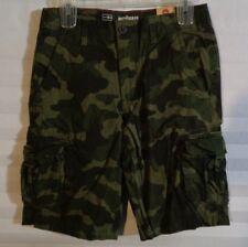 Urban Pipeline Green Camoflauge Cargo Shorts Boys Size 16 (u)