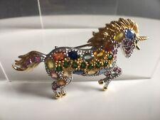 14ct Gold 925 Silver Unicorn Brooch