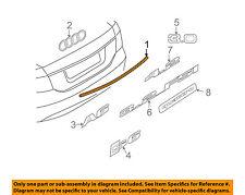 AUDI OEM 05-08 A6 Quattro Trunk Lid-Molding Trim 4F5853927A2ZZ