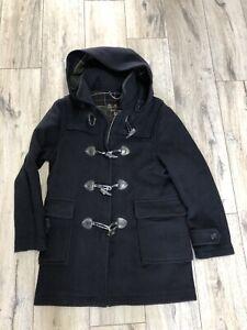 Women's Barbour Duffle Coat Black Size 14