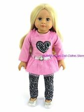 Sequin Leopard Print Pant Set 18 in Doll Clothes Fits American Girl