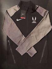 Nike USATF 2016 Olympic Trials Podium Men's Jacket 839054 010 Black Size S NWT
