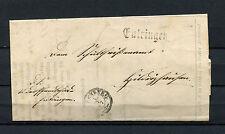 """Württ.  Postablage """"Entringen"""" L1 und Herrenberg von 1867    (#347)"""