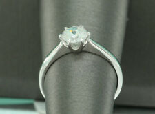 1.5 CT ROUND CUT DIAMOND SOLITAIRE ENGAGEMENT RING 14K WHITE GOLD ENHANCED 10
