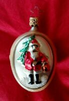 "VINTAGE OLD WORLD CHRISTMAS ORNAMENT - TREE / SANTA 3"" Two sided"