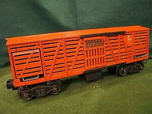 Postwar Lionel O scale OPERATING CATTLE CAR  Armour #3656 ~very nice~ working