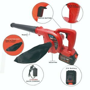 21V Lithium-ion 2 Batteries cordless 2-in-1 Blower Vacuum