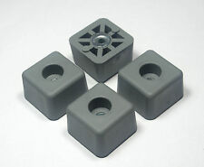 FOUR (4) GRAY CUBE SQUARE RUBBER FEET INDUSTRIAL AMPS, CASES - FREE S&H  USA
