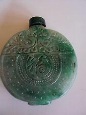 Snuffbottle Schnupftabak Flasche aus Jade chinesische Schnitzerei Nachlass