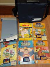 Quantum Pad Leap Frog with Carrying Case and Lot Of 6 Cartridges and Books